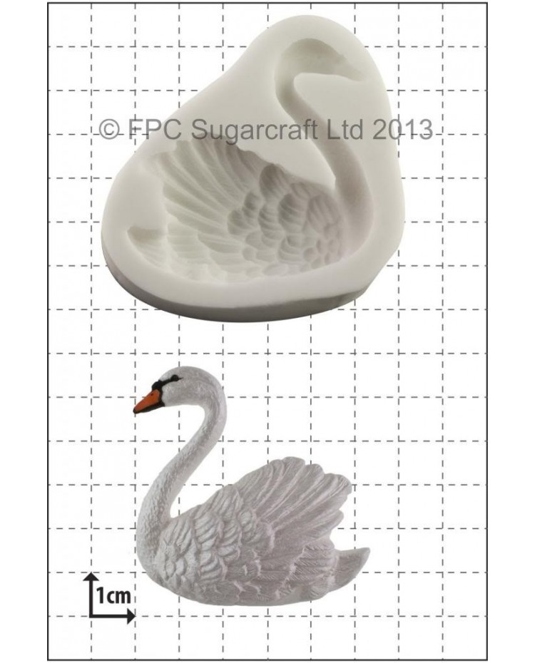 image: Swan - left facing - silicone mould