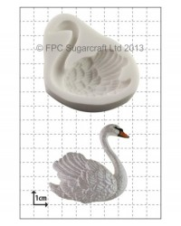 image: Swan right facing silicone mould