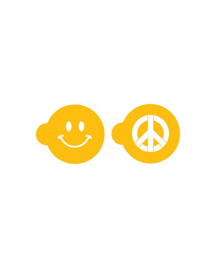 Peace Sign Happiness Smiley Face Stencil Set