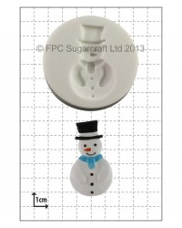 image: Snowman silicone mould