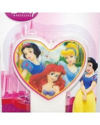 image: Disney Princess heart shape flat candle