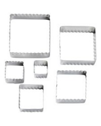 image: Square Fondant Double sided Cut-Outs cutter set
