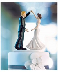 image: Bride & groom wedding cake topper Dancing the night away