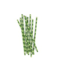 image: Bamboo design retro paper party straws (144)