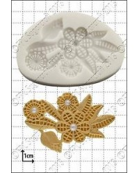 image: Art Deco Flowers silicone mould jewel or brooch like