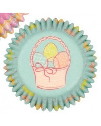 image: Easter Spring Garden mini cupcake papers