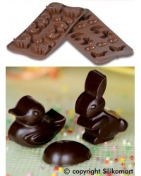 image: Easter shapes Silikomart silicone chocolate mould