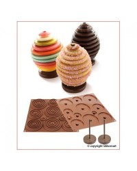 image: 3d Silikomart Easychoc Easter egg silicone chocolate mould