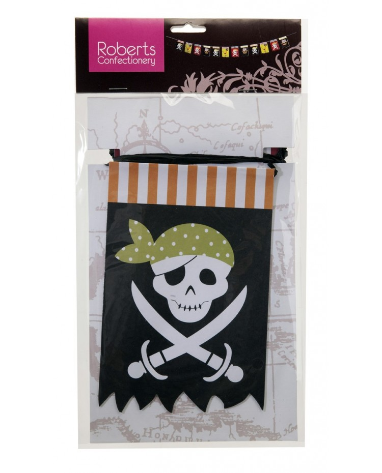 image: Pirate party bunting garland