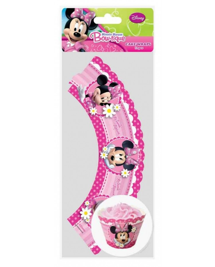 image: Cupcake wrappers Minnie Mouse