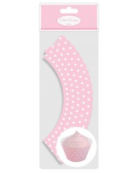 image: Cupcake Wrappers Pink & White polka dot