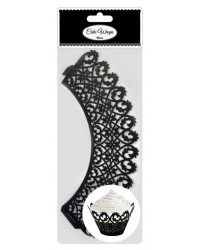 image: Cupcake Wrappers Black filigree scrolls