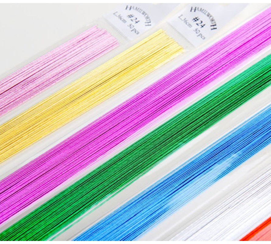 Floral wire for cake decorating high quality paper covered or metallic