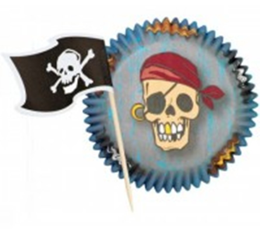 Pirate themed cake cookie chocolate & cupcake decorating supplies