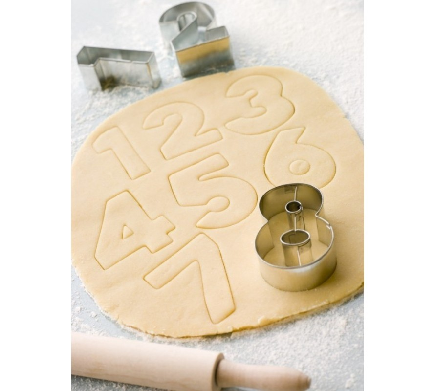 Alphabet lettering & number shape cookie cutters