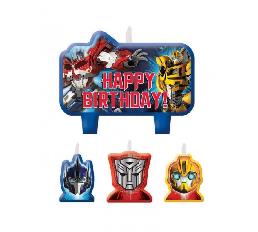 Transformers cake decorating kits and candles