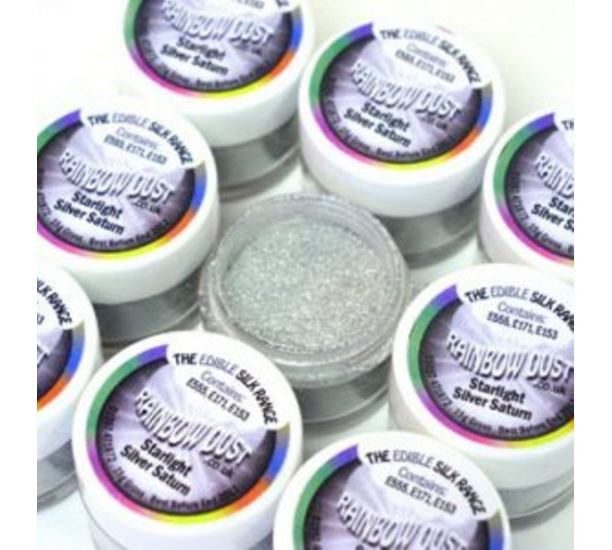 Starlight lustre dusts for icing and cake decorating