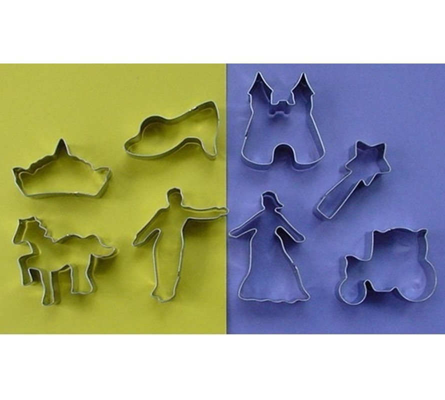 Fairytale themed cookie cutters