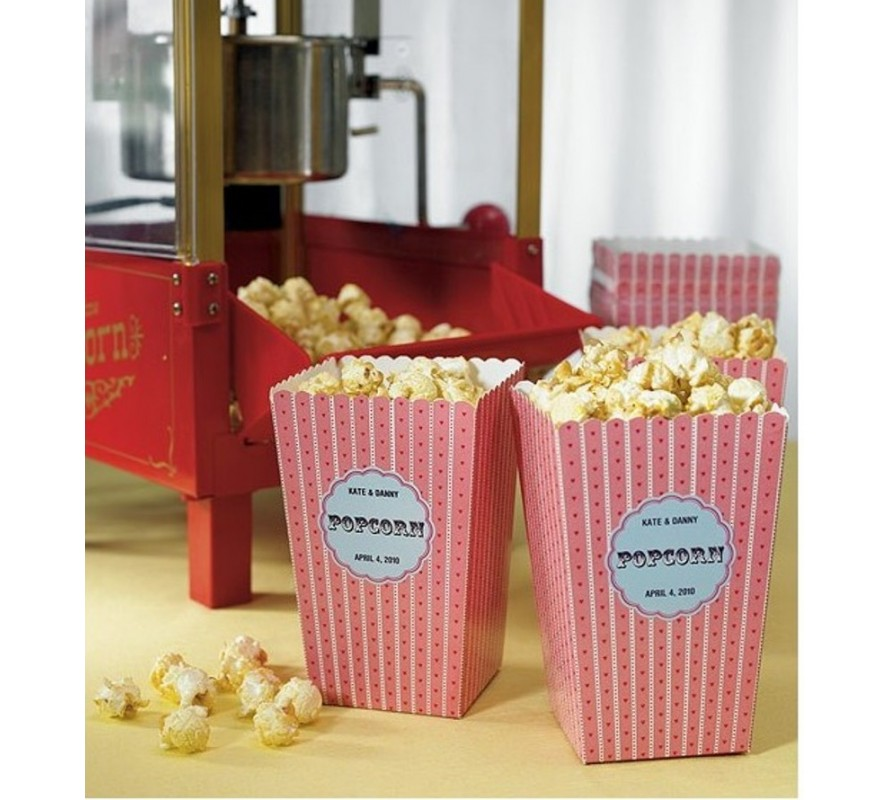 Popcorn boxes. Fun designs for candy, party or dessert buffet displays