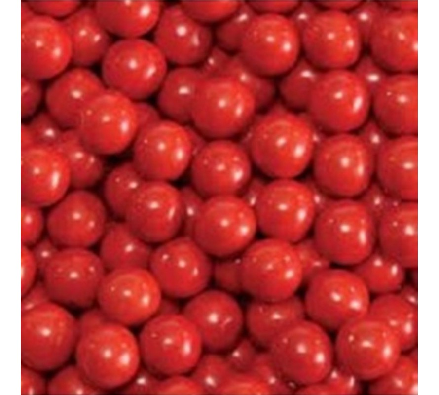 Red coloured candy & lollies for candy buffets & cake decorating