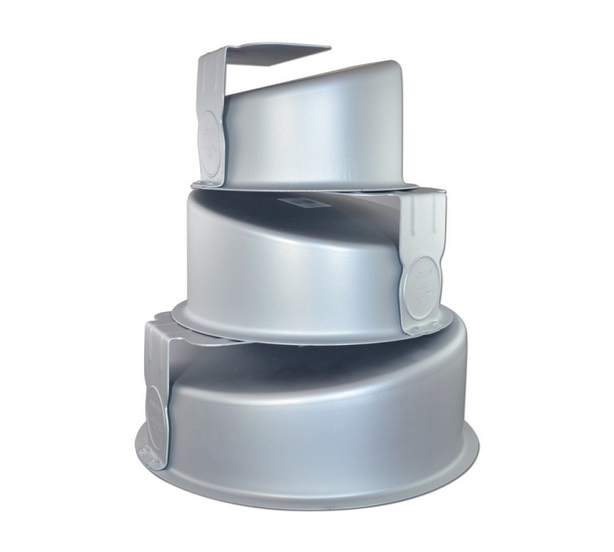 Mad Hatter Topsy Turvy cake pan tins round & square shapes