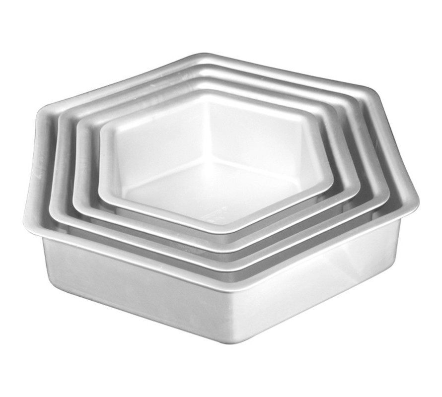 Hexagon cake pans