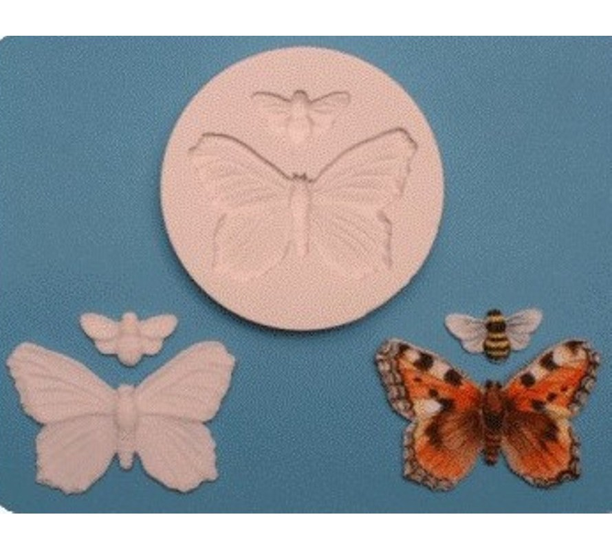 Nature themed cake decorating silicone moulds for fondant and gumpaste