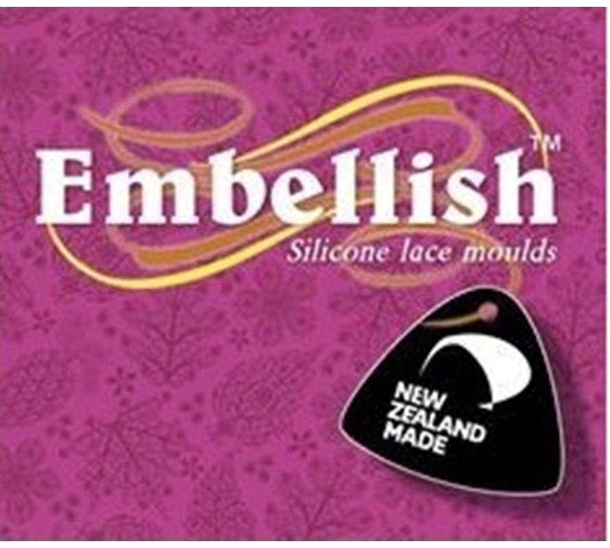 Embellish cake decorating silicone moulds. 2 piece self cutting moulds