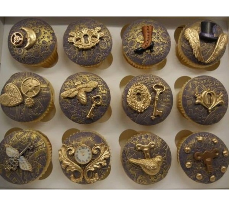 Steampunk cake cookie chocolate & cupcake decorating supplies