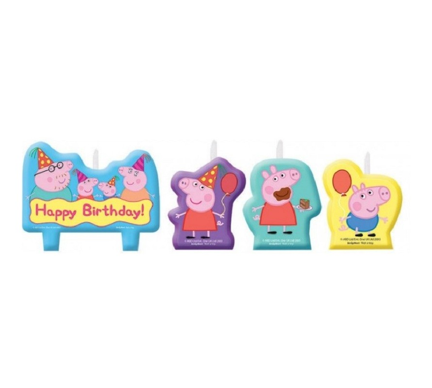 Peppa Pig edible icing images for cakes cookies & cupcakes. Candles &