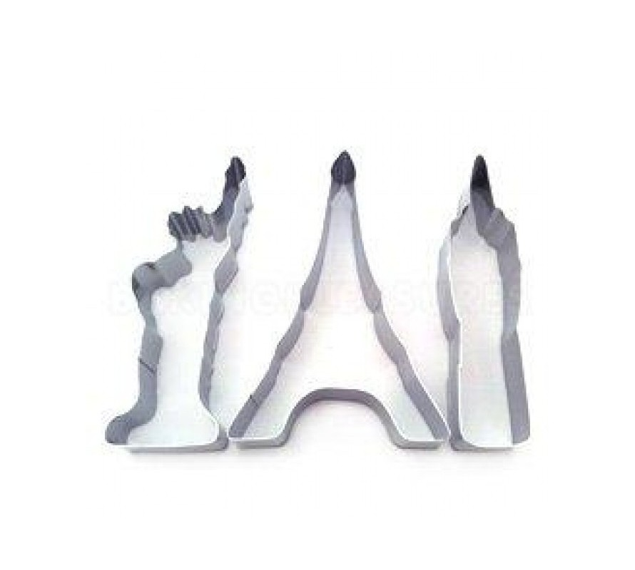 Monument and building shaped cookie cutters