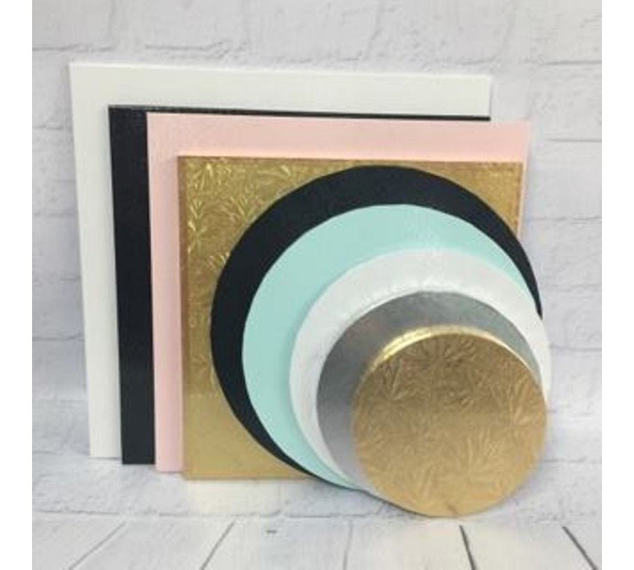 Cake boards and cards in a wide variety of shapes & colours