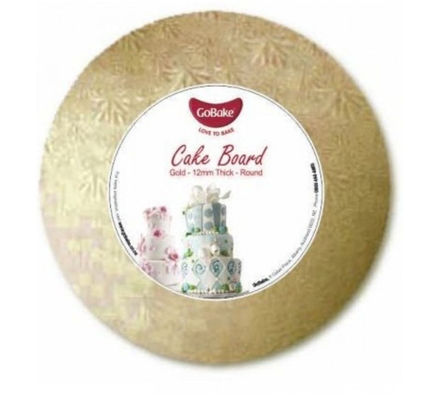 Cake Drum boards GOLD round 12mm lightweight