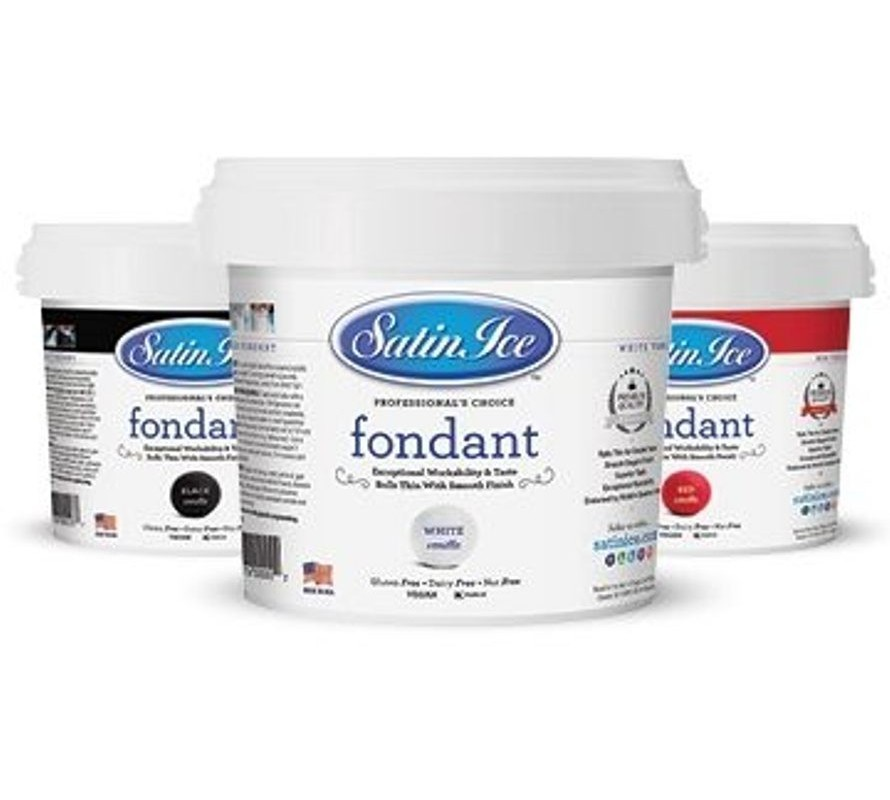 Satin ice USA rolled fondant icing. Wide range of colours