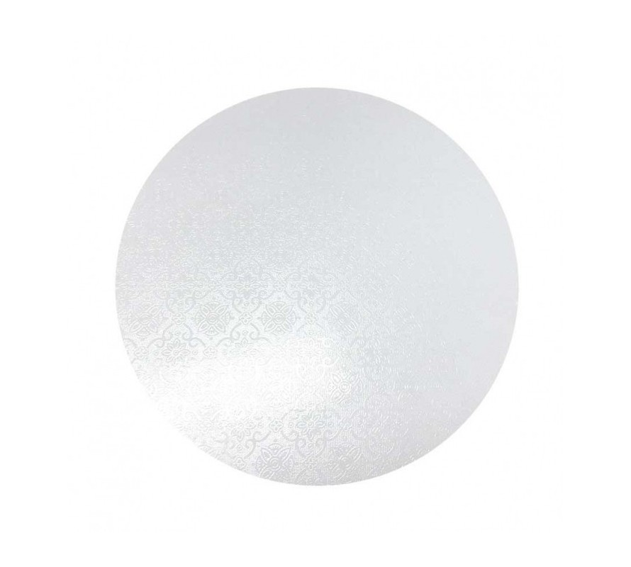 White coloured round cake boards. Strong masonite can take heavy cakes