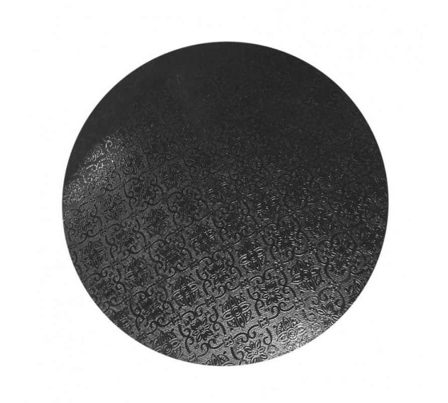 Black coloured round cake boards. Strong can take heavy cakes