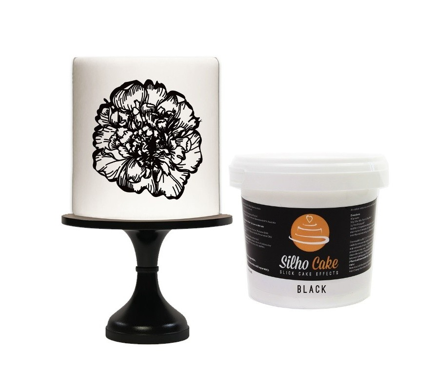 Edible silhouette making supplies for cakes
