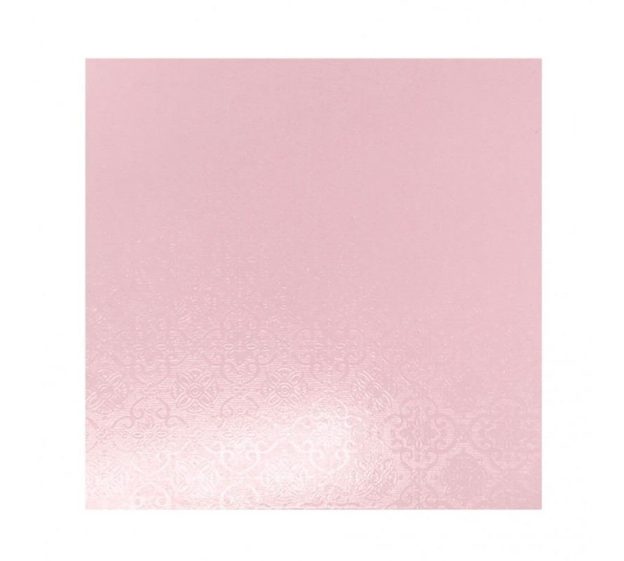 Cake boards Square Pink Masonite 6mm