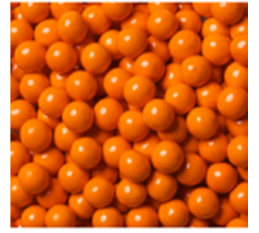 Orange coloured candy & lollies for candy buffets & cake decorating