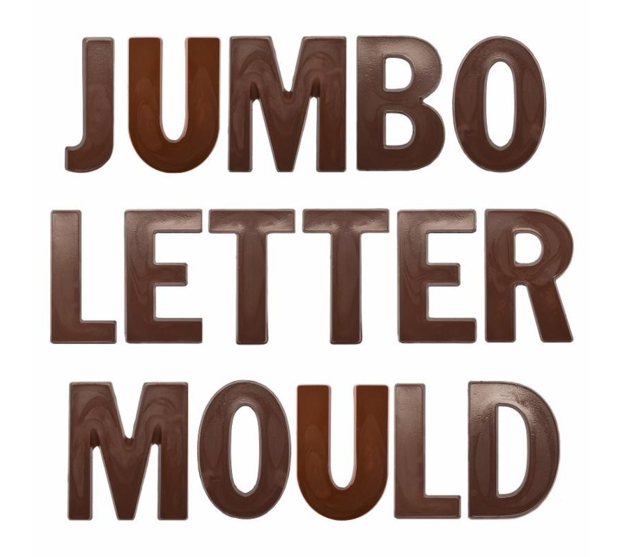 Jumbo Alphabet Letter Chocolate Moulds