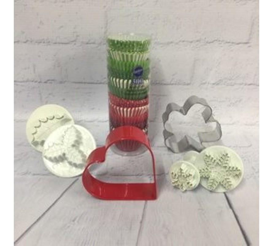 Seasonal cake decorating supplies incl Christmas, Easter, Valentines