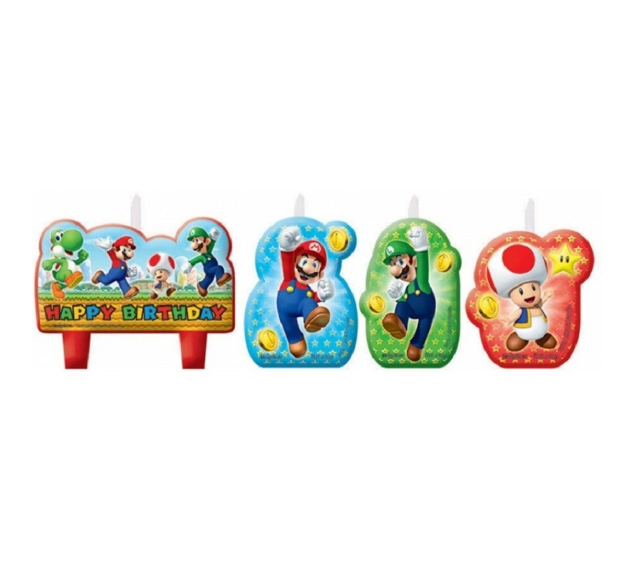 Super Mario Bros cake decorating kits & candles