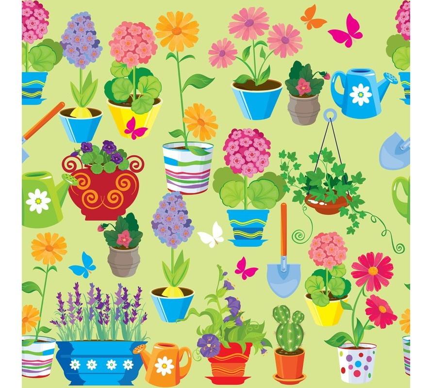 Gardening plants and insect themed items