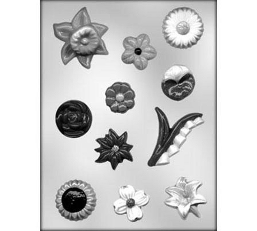 Floral and Fruits chocolate moulds