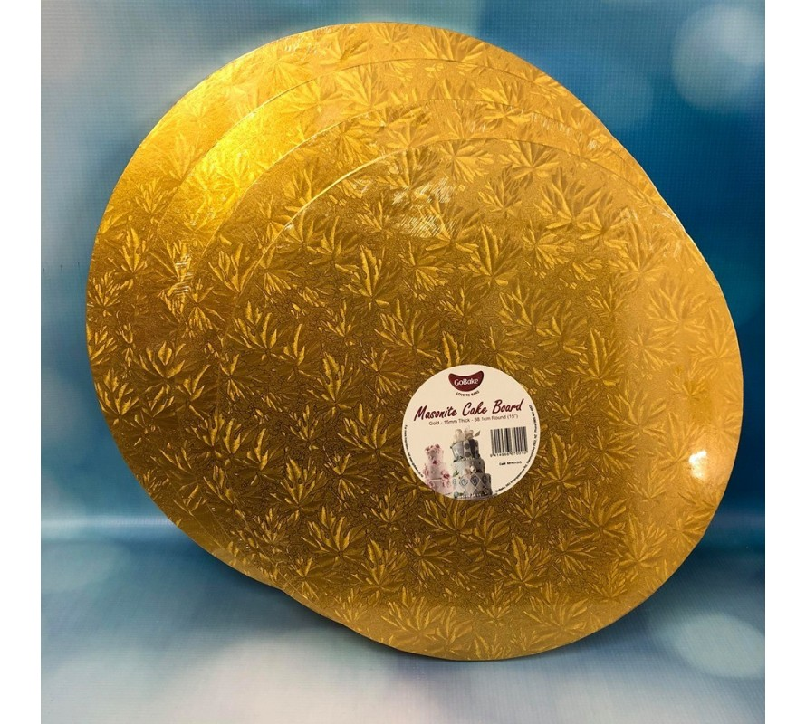 Cake boards Round Gold Thick 15mm