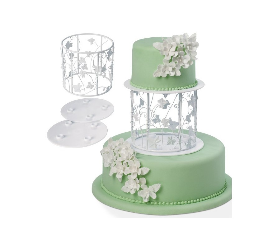 Cake separators & stands for between tiers of your wedding cake