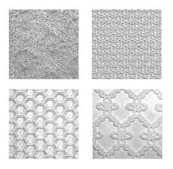 Impression Mat Set C Lace Honeycomb Eyelet And Weave
